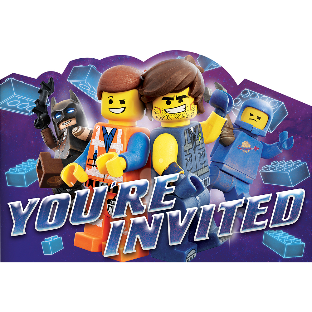 The LEGO Movie 2 Second Part Invitations 8ct Image 1