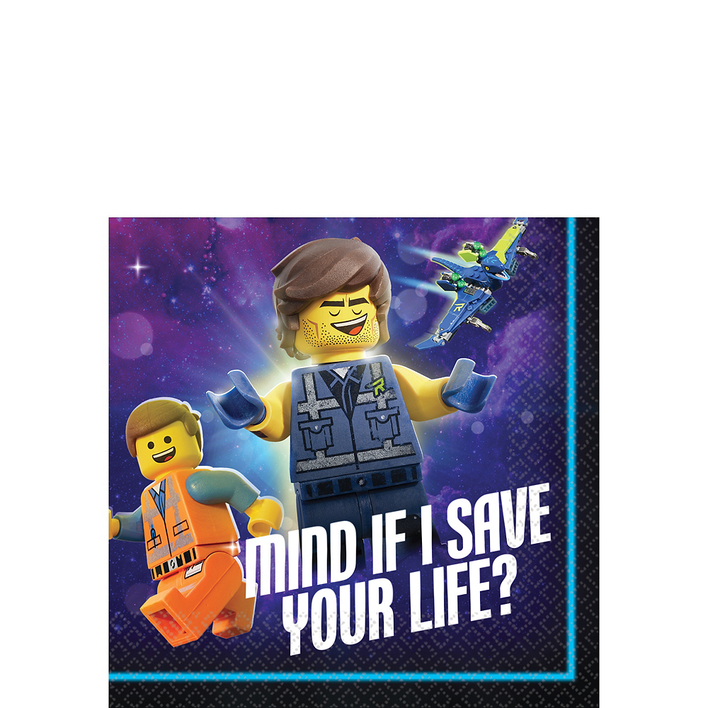 The LEGO Movie 2: The Second Part Beverage Napkins 16ct Image #1