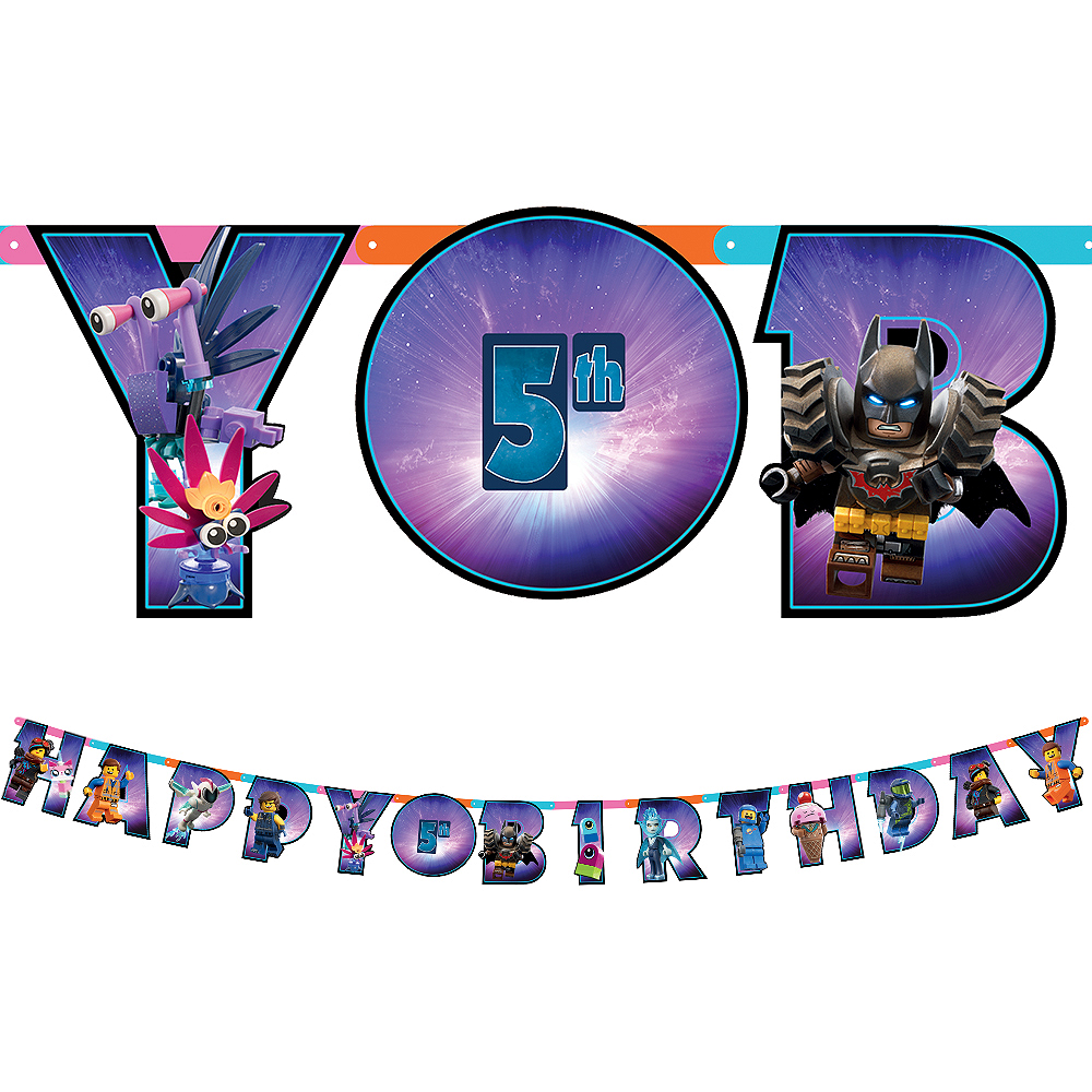 The LEGO Movie 2 Second Part Birthday Banner Kit See All Lego Party Supplies