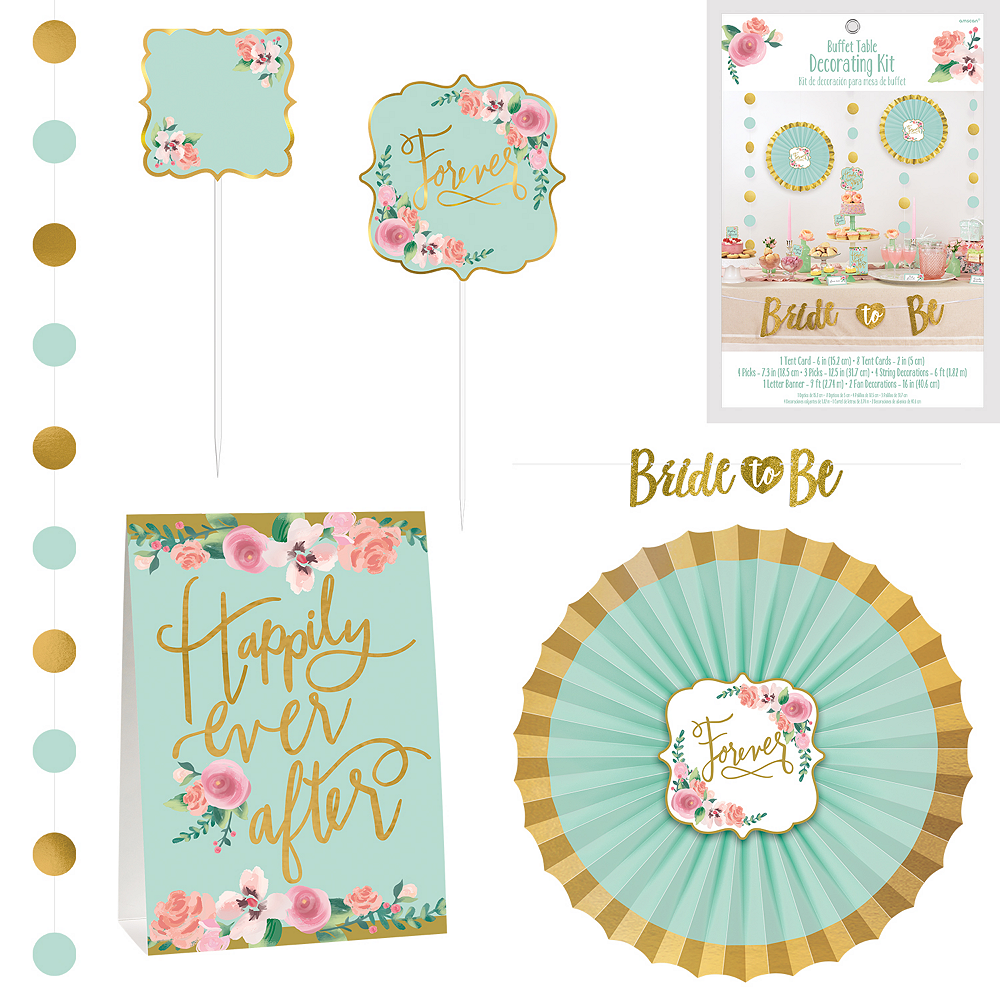 Mint to Be Buffet Table Decorating Kit 23pc Image #1