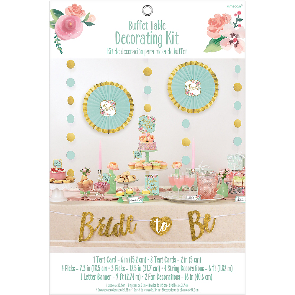 Mint to Be Buffet Table Decorating Kit 23pc Image #2