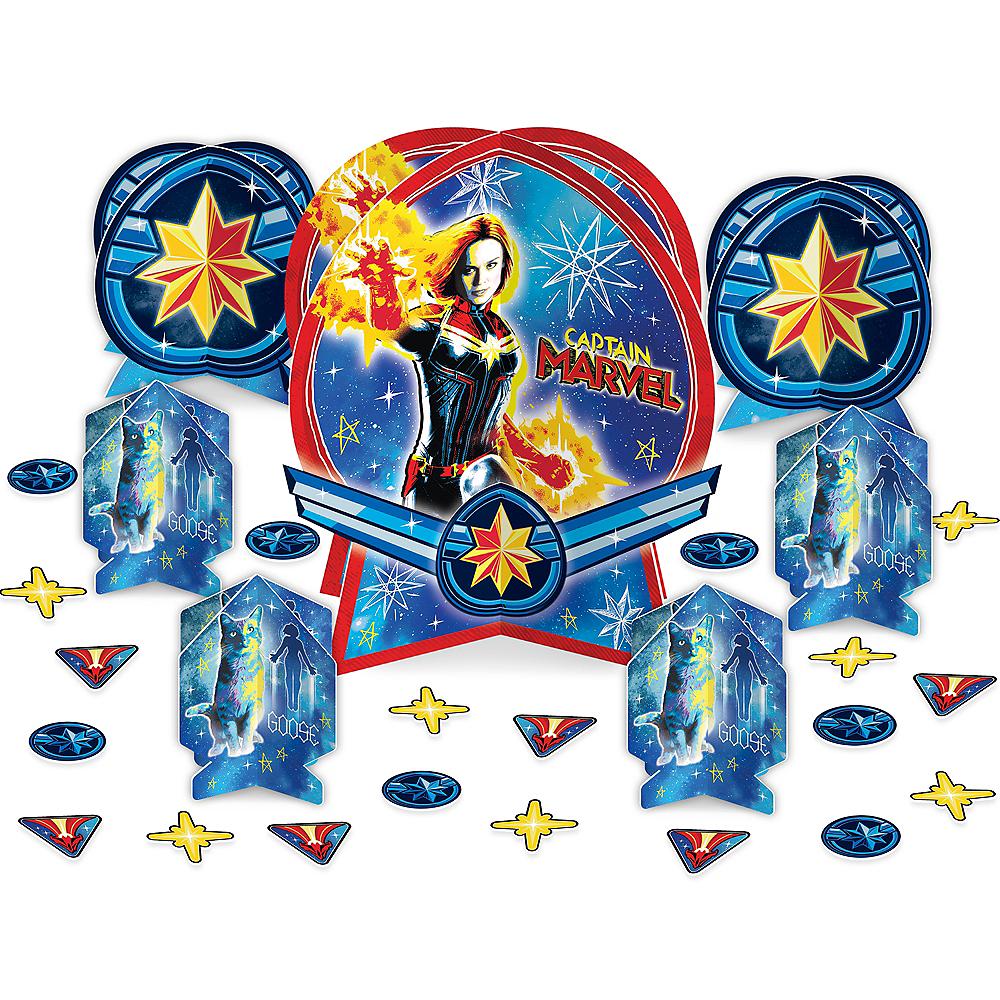 Captain Marvel Table Decorating Kit 27pc Image #1