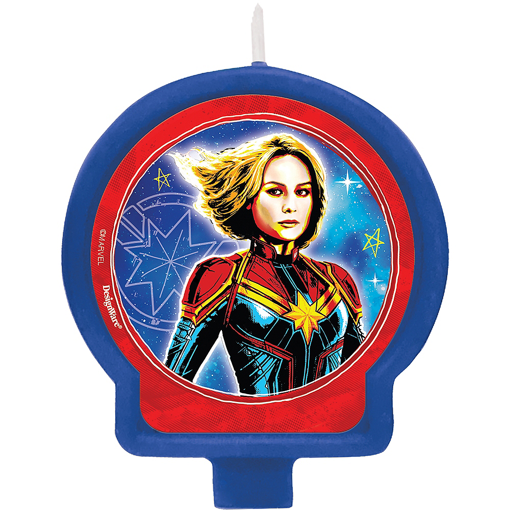 Captain Marvel Birthday Candle Image #1