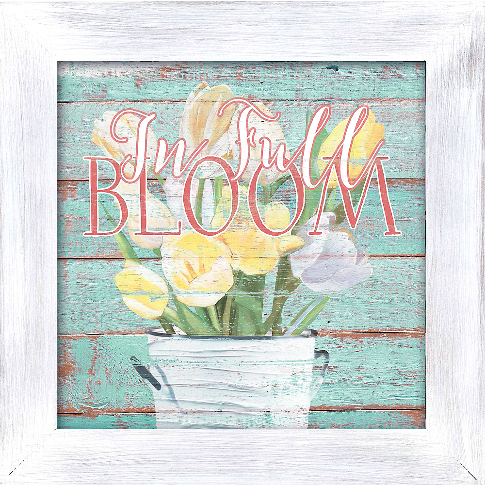In Full Bloom Block Sign Image #1