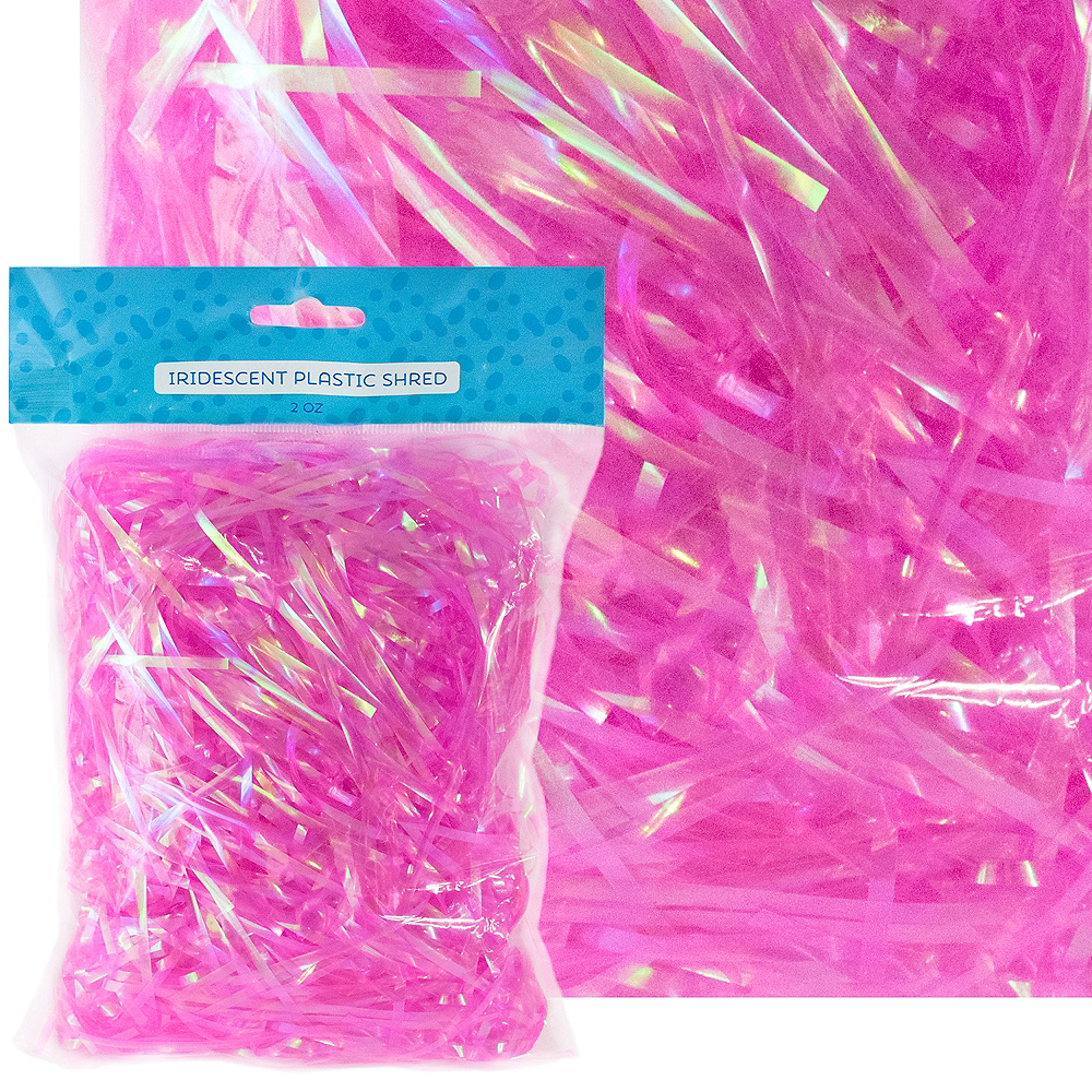Nav Item for Iridescent Pink Plastic Easter Grass Image #1