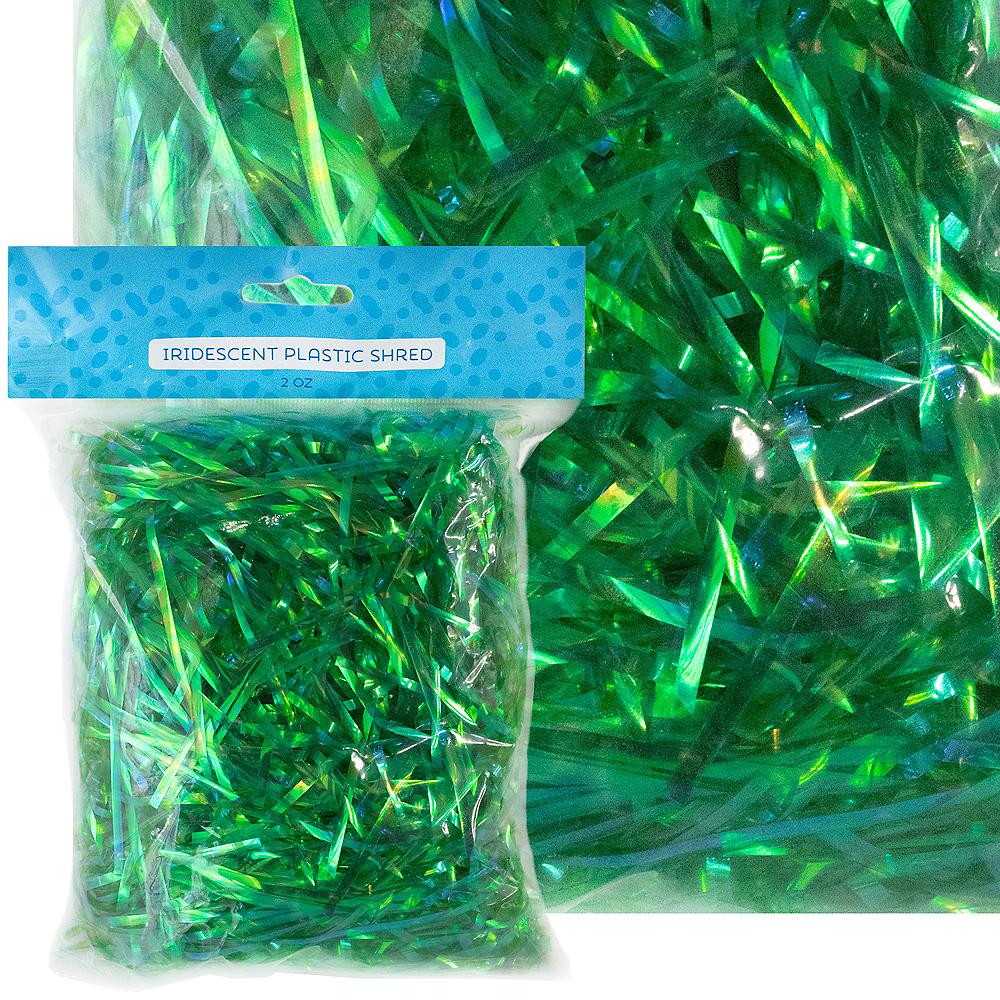 Iridescent Green Plastic Easter Grass Image #1