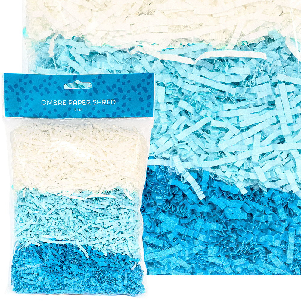 Blue Gradient Paper Easter Grass Image #1