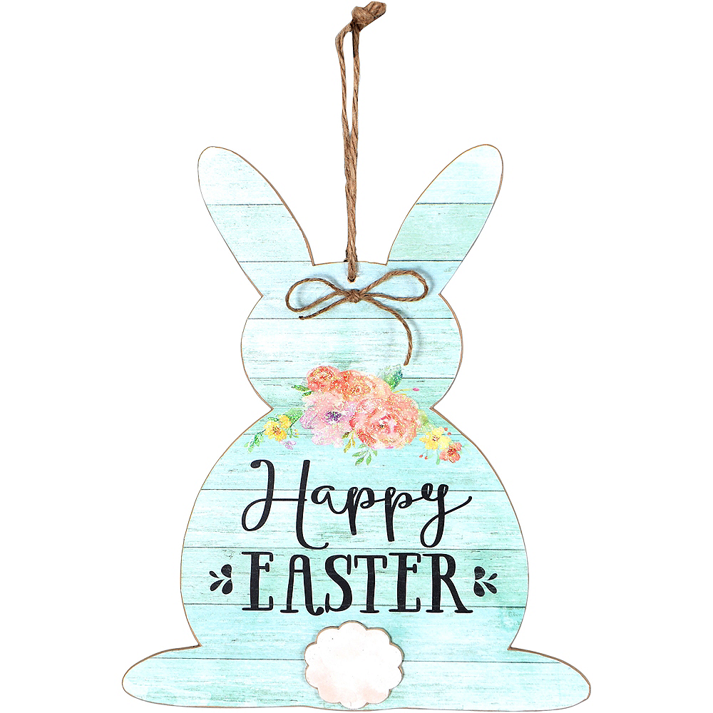 Rustic Easter Bunny Sign Image #1