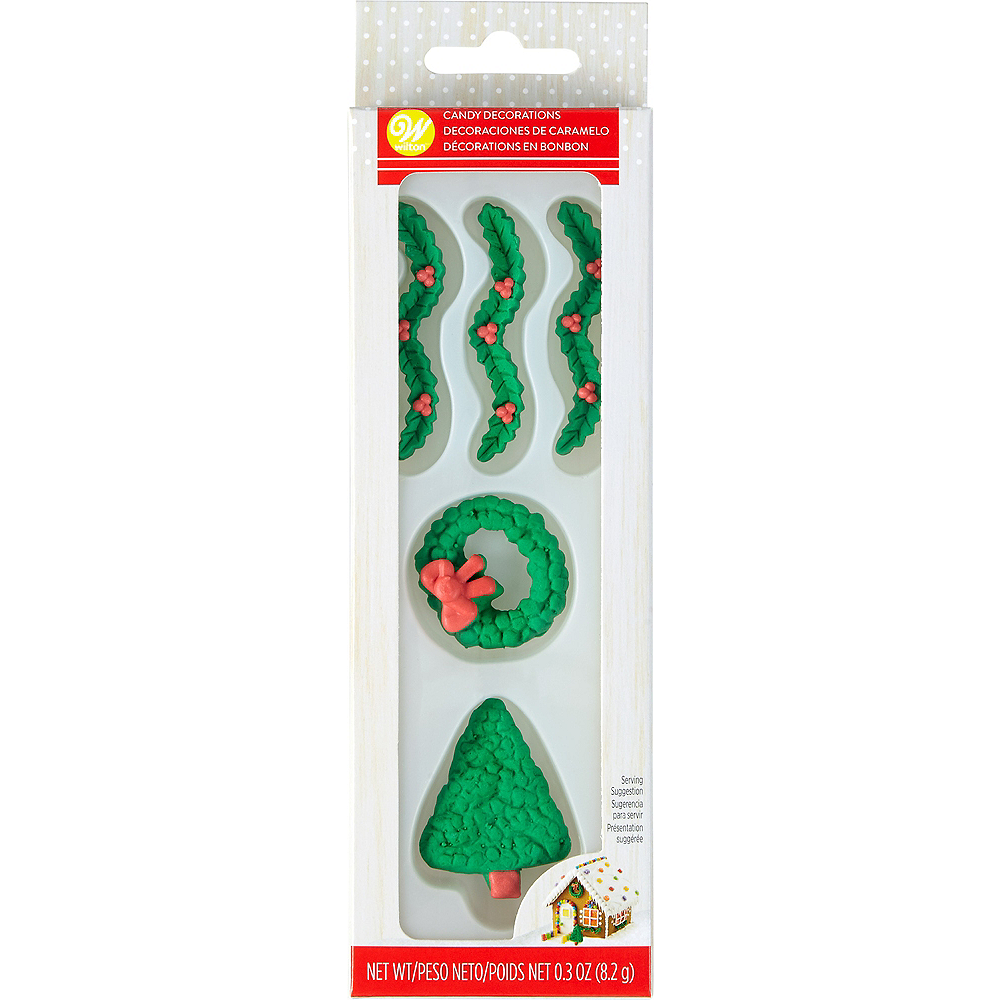 Wilton Gingerbread House Holiday Trim Candy Decorations 5ct Image #2