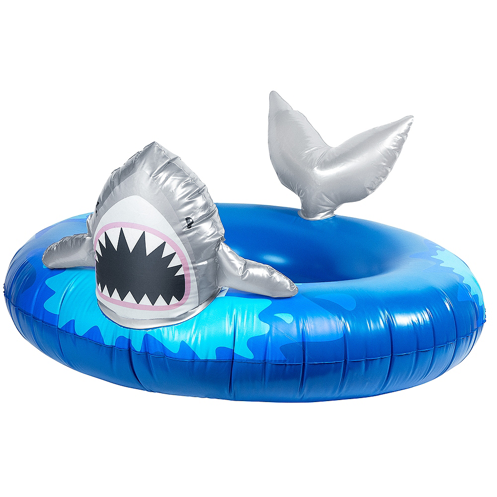 Round Shark Pool Float Image #1