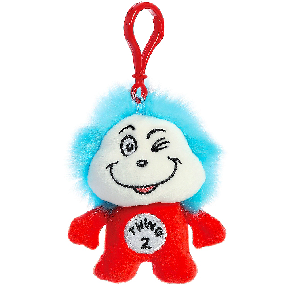 Thing 2 Plush Keychain – Dr. Seuss Image #1