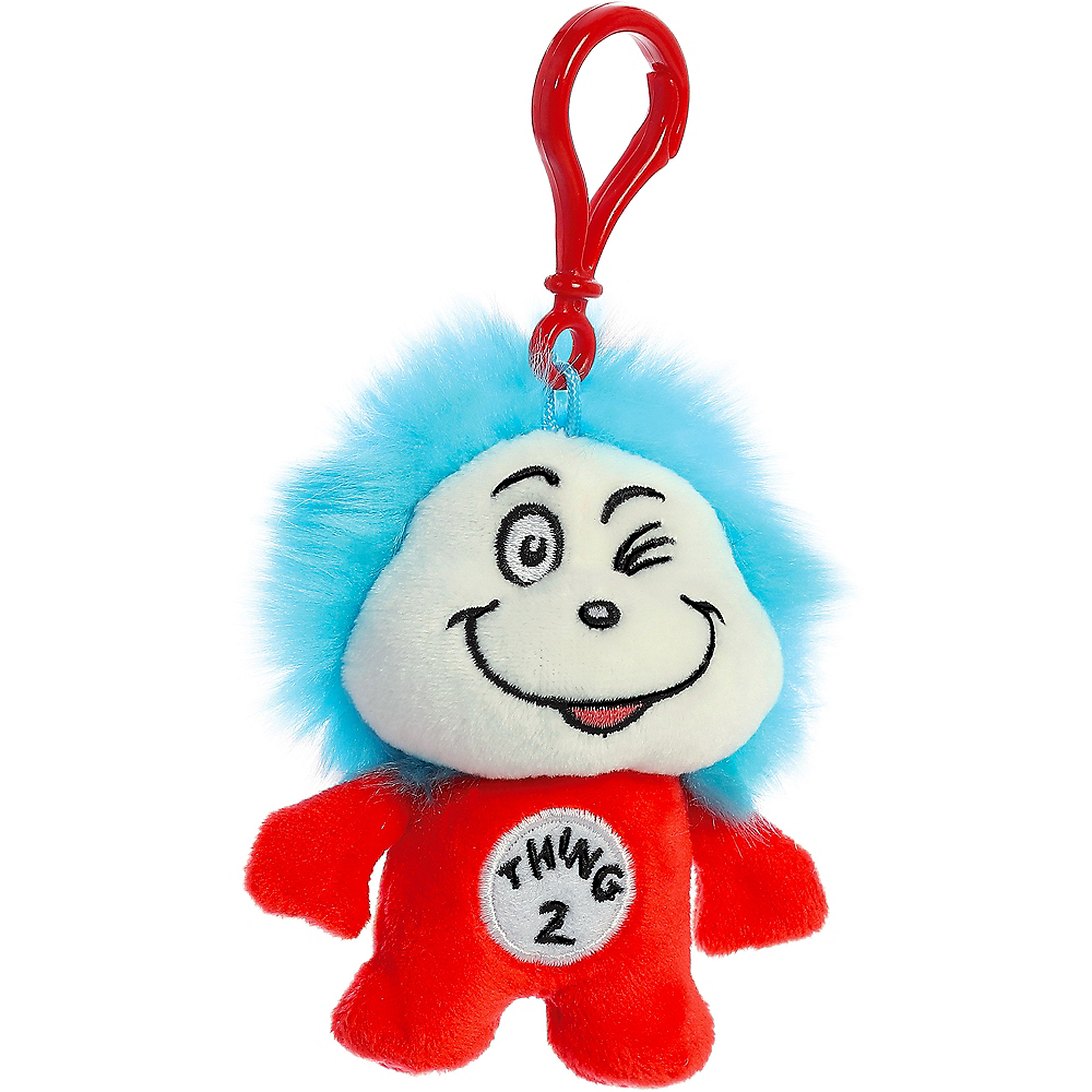 Thing 2 Plush Keychain – Dr. Seuss Image #2
