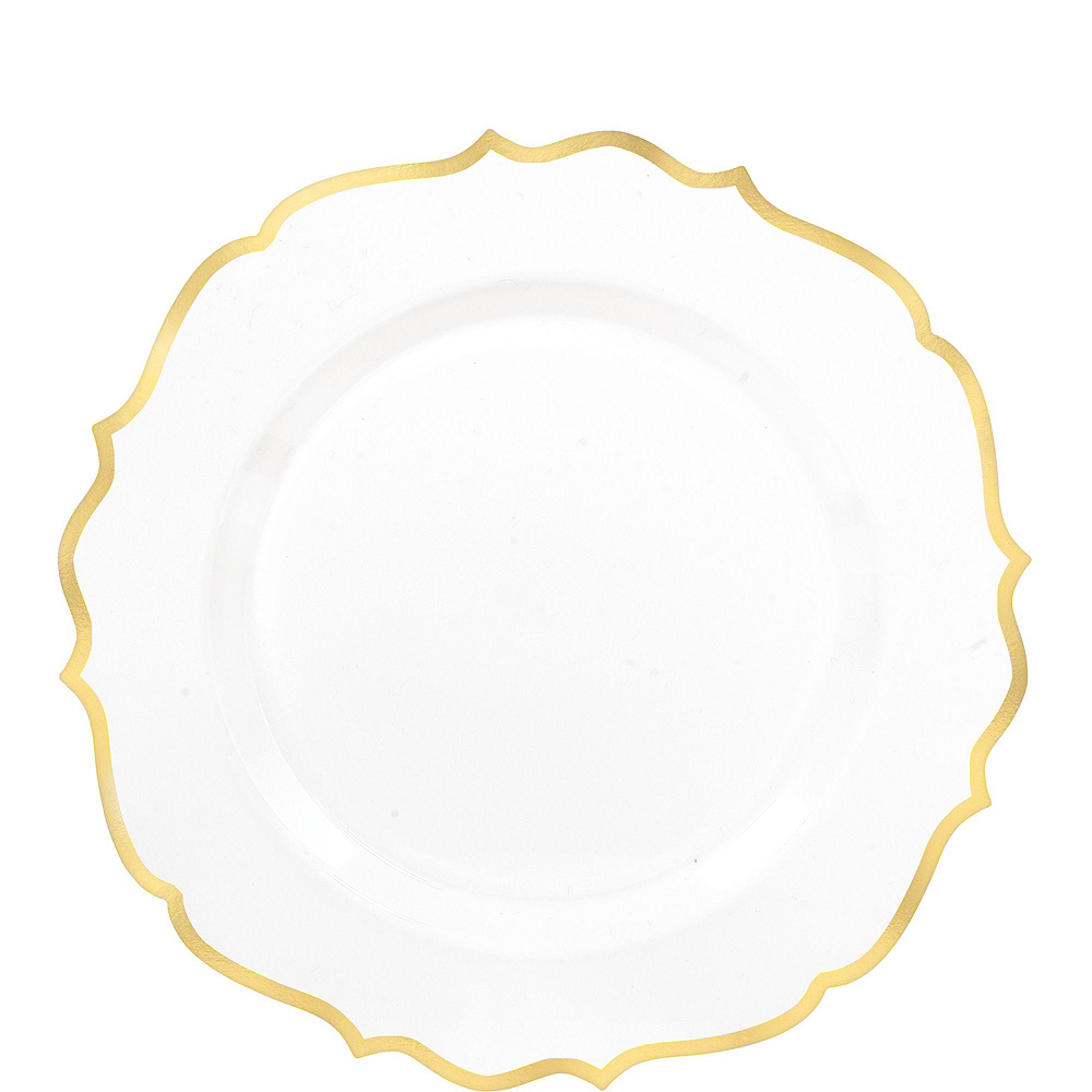 Nav Item for White & Gold Ornate Premium Tableware Kit for 40 Guests Image #2