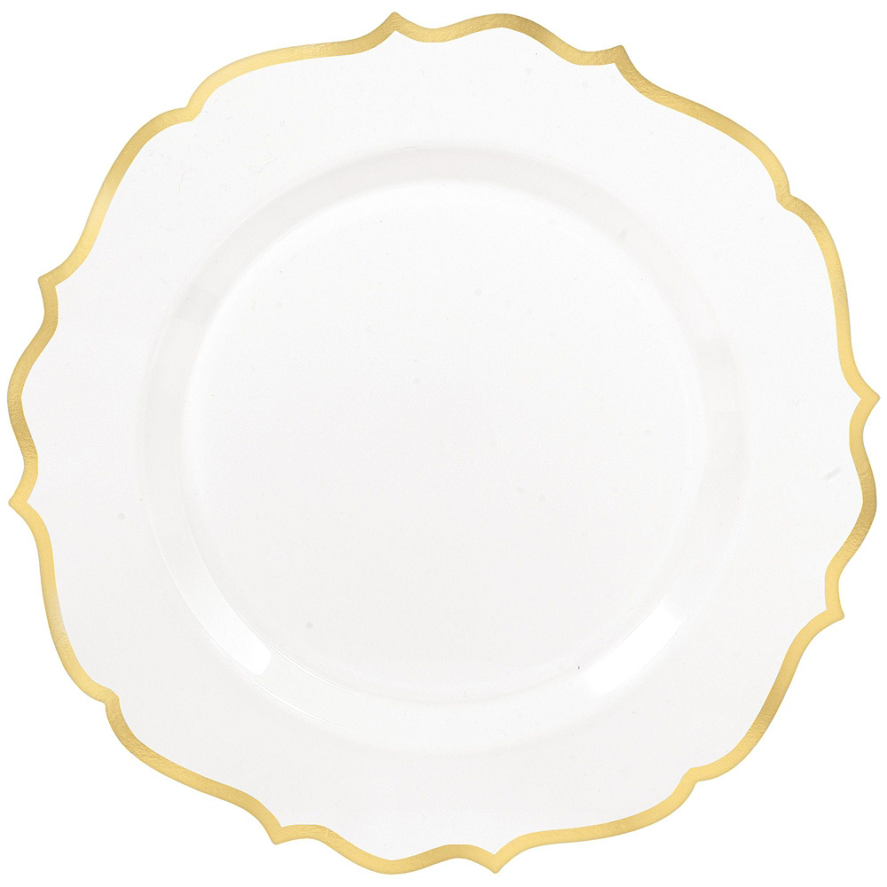 White & Gold Ornate Premium Tableware Kit for 40 Guests Image #3