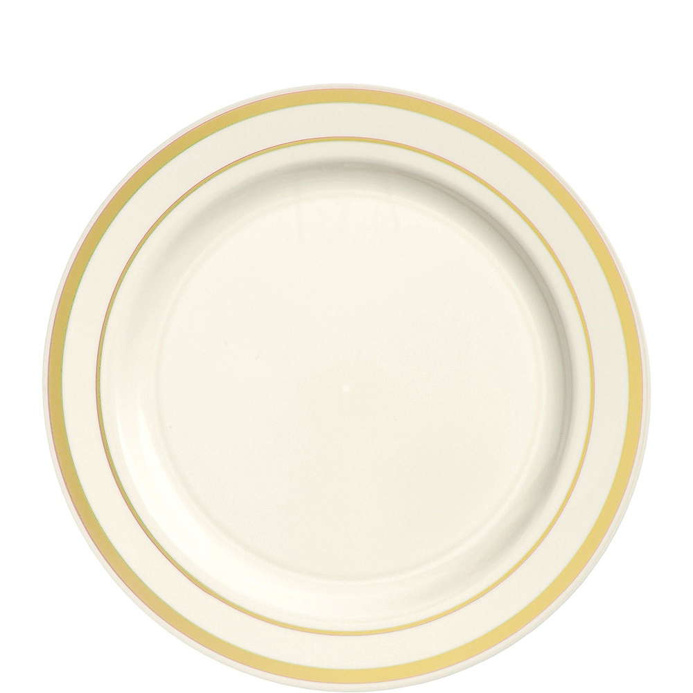 Cream Gold-Trimmed Premium Tableware Kit for 40 Guests Image #2