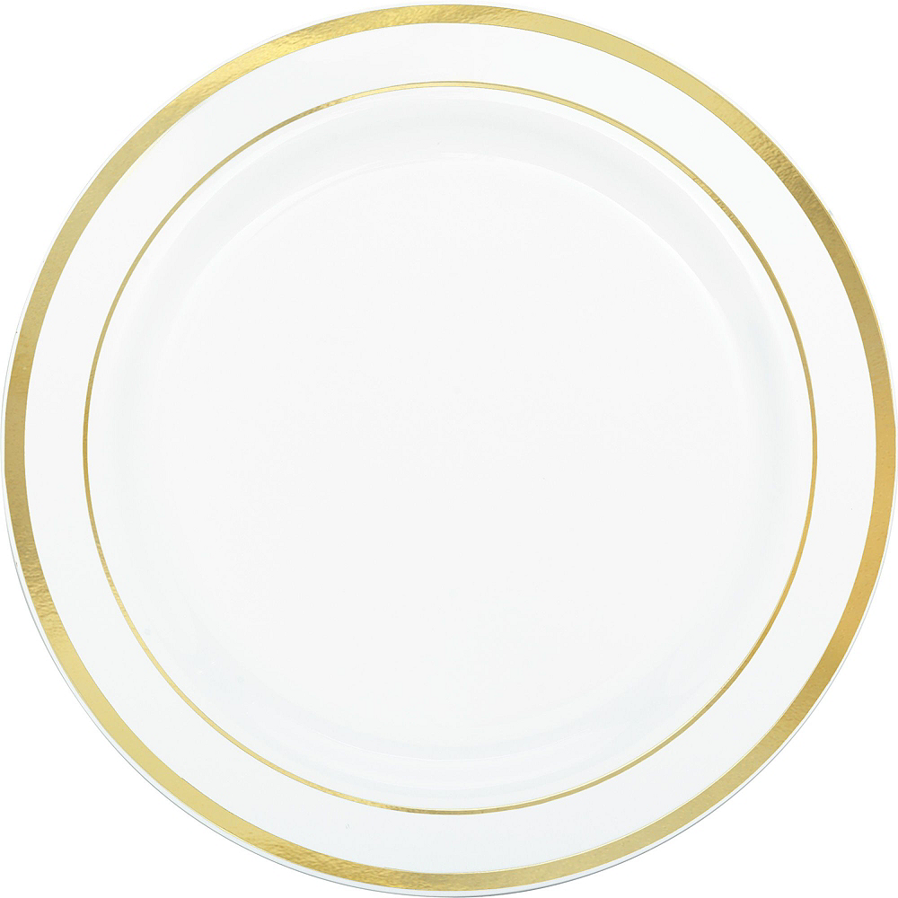White Gold-Trimmed Premium Tableware Kit for 60 Guests Image #3