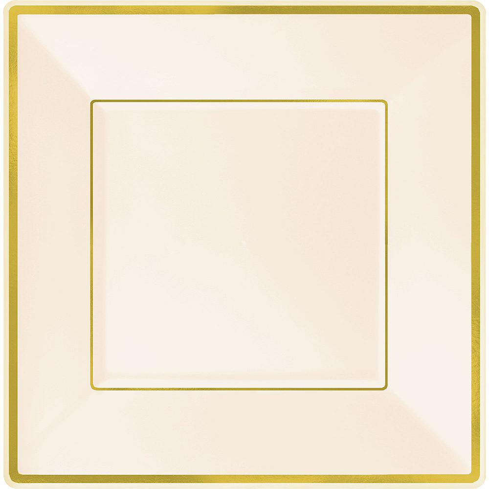 Cream & Gold Square Premium Tableware Kit for 32 Guests Image #3