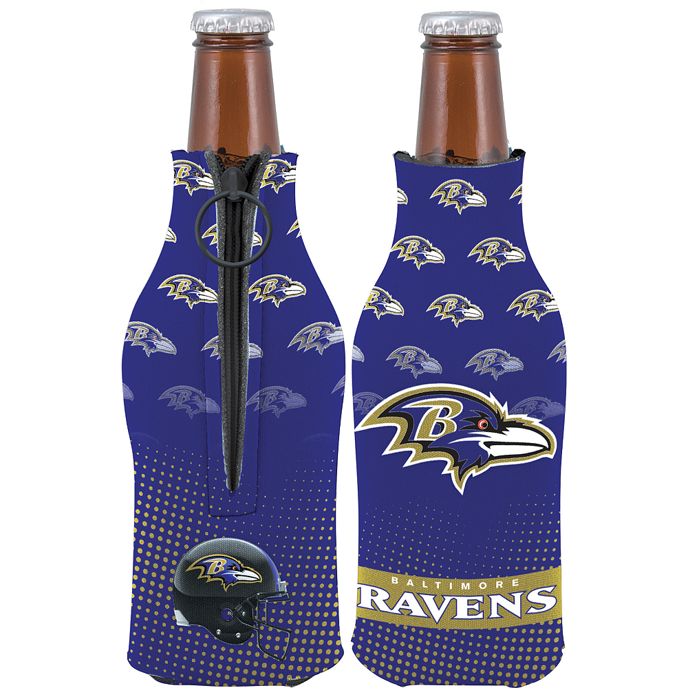 Baltimore Ravens Bottle Coozie Image #1