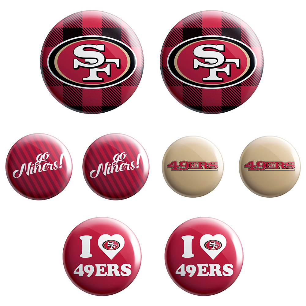 San Francisco 49ers Buttons 8ct Image #1