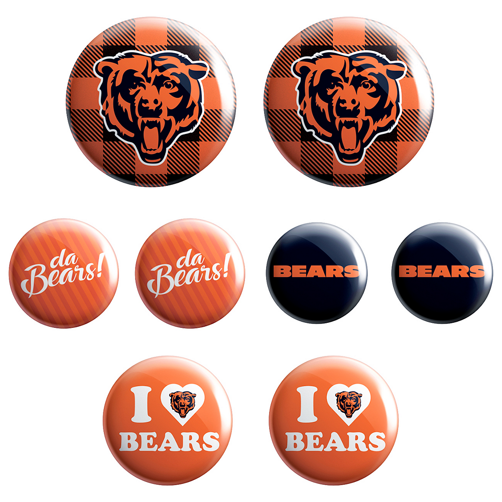 Chicago Bears Buttons 8ct Image #1