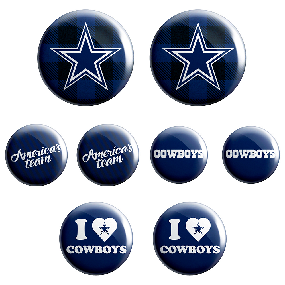 save off 352a3 a555c Dallas Cowboys Buttons 8ct