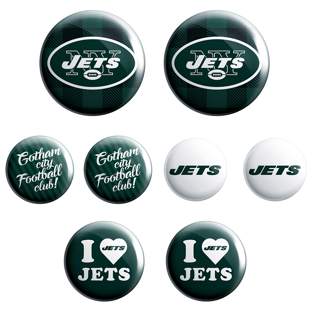 New York Jets Buttons 8ct Image #1