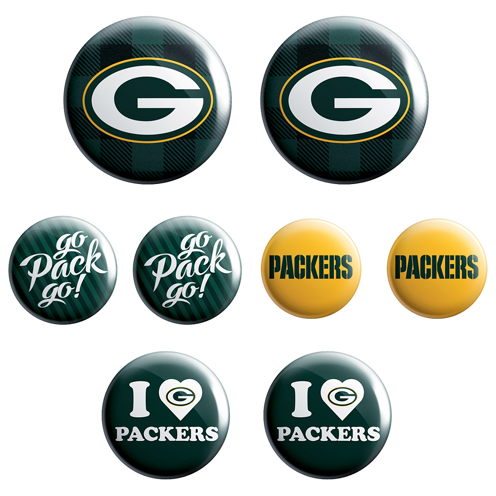 Green Bay Packers Buttons 8ct Image #1