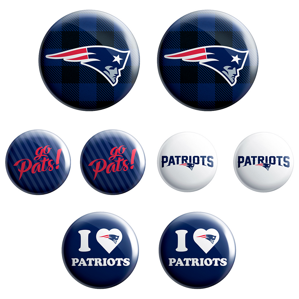 New England Patriots Buttons 8ct Image #1