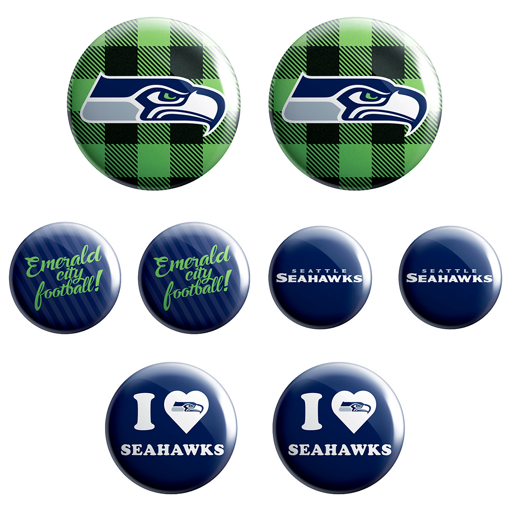 Seattle Seahawks Buttons 8ct Image #1