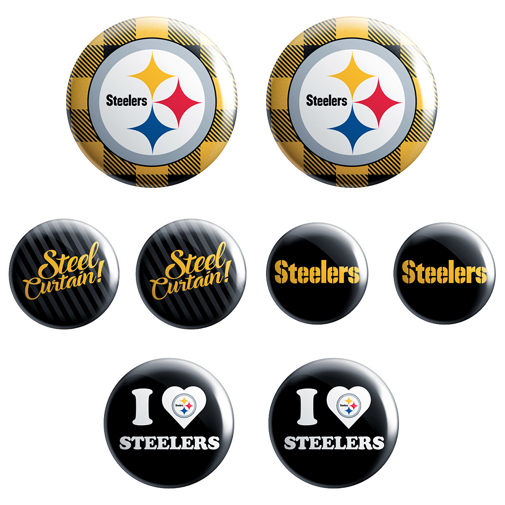 Pittsburgh Steelers Buttons 8ct Image #1