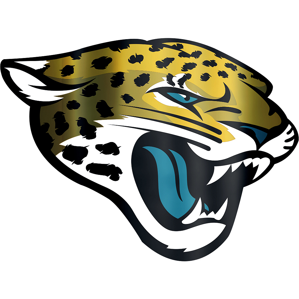 727c592b Metallic Jacksonville Jaguars Sticker