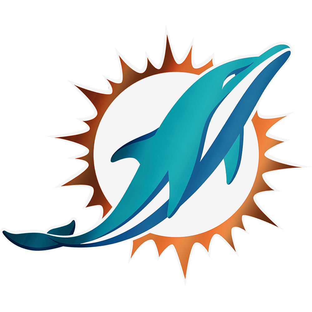 Metallic Miami Dolphins Sticker Image #1