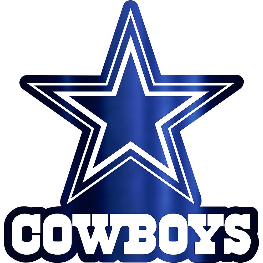 Metallic Dallas Cowboys Sticker Image #1