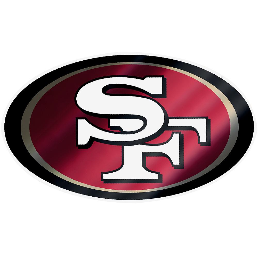 Metallic San Francisco 49ers Sticker Image #1