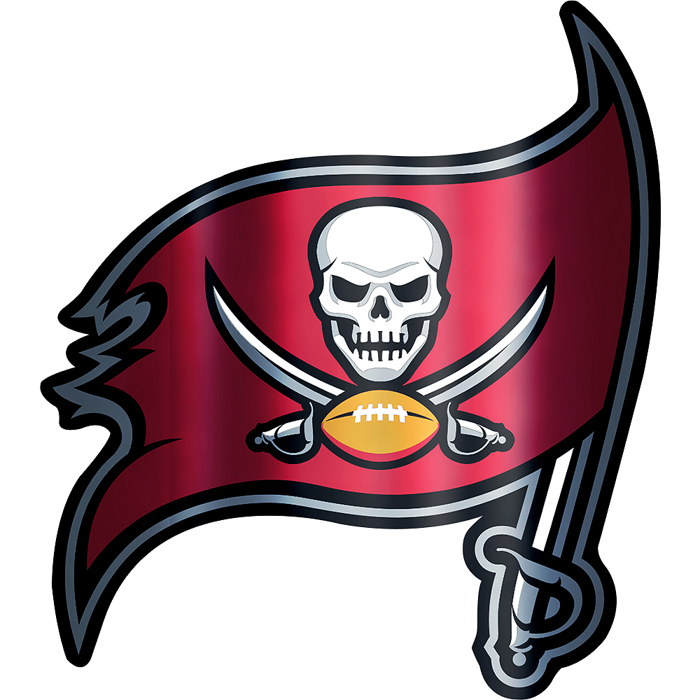 Metallic Tampa Bay Buccaneers Sticker Image #1