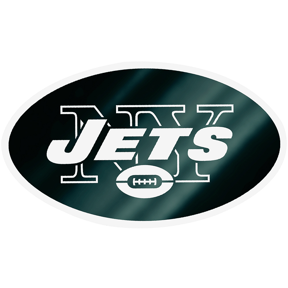 Nav Item for Metallic New York Jets Sticker Image #1