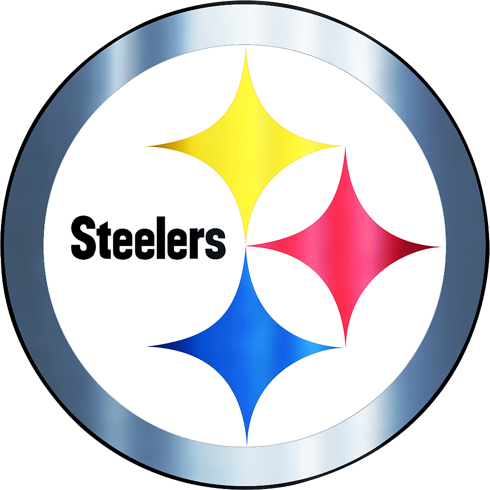 Metallic Pittsburgh Steelers Sticker 5 1/2in x 7 3/4in | Party City
