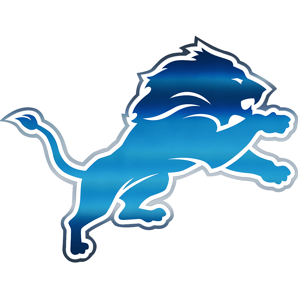 Metallic Detroit Lions Sticker Image #1