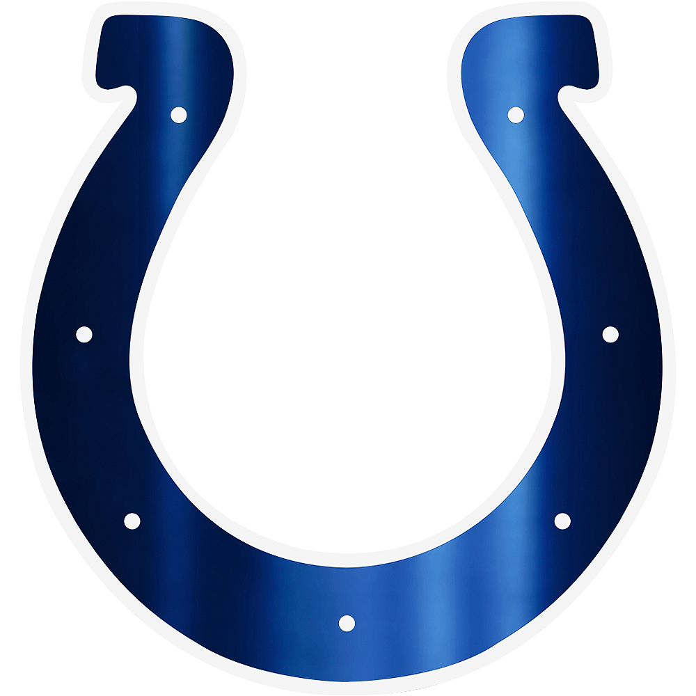 Metallic Indianapolis Colts Sticker Image #1