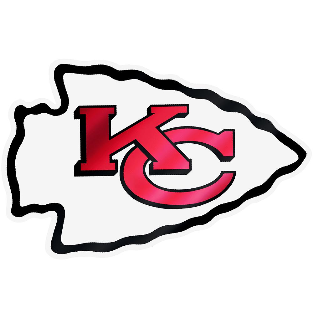 Metallic Kansas City Chiefs Sticker Image #1