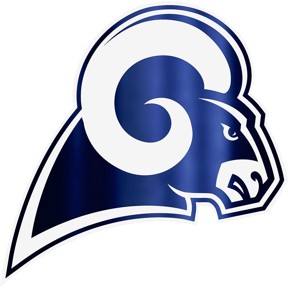 Metallic Los Angeles Rams Sticker Image #1