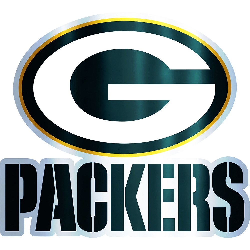 Metallic Green Bay Packers Sticker Image #1