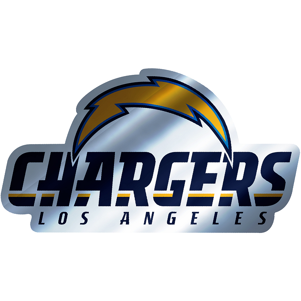 Metallic Los Angeles Chargers Sticker Image #1