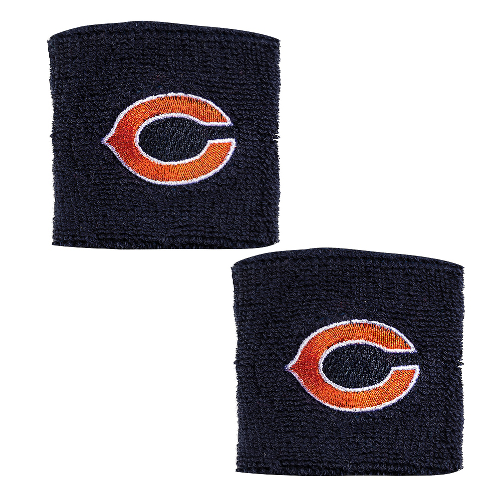 Chicago Bears Wristbands 2ct Image #1