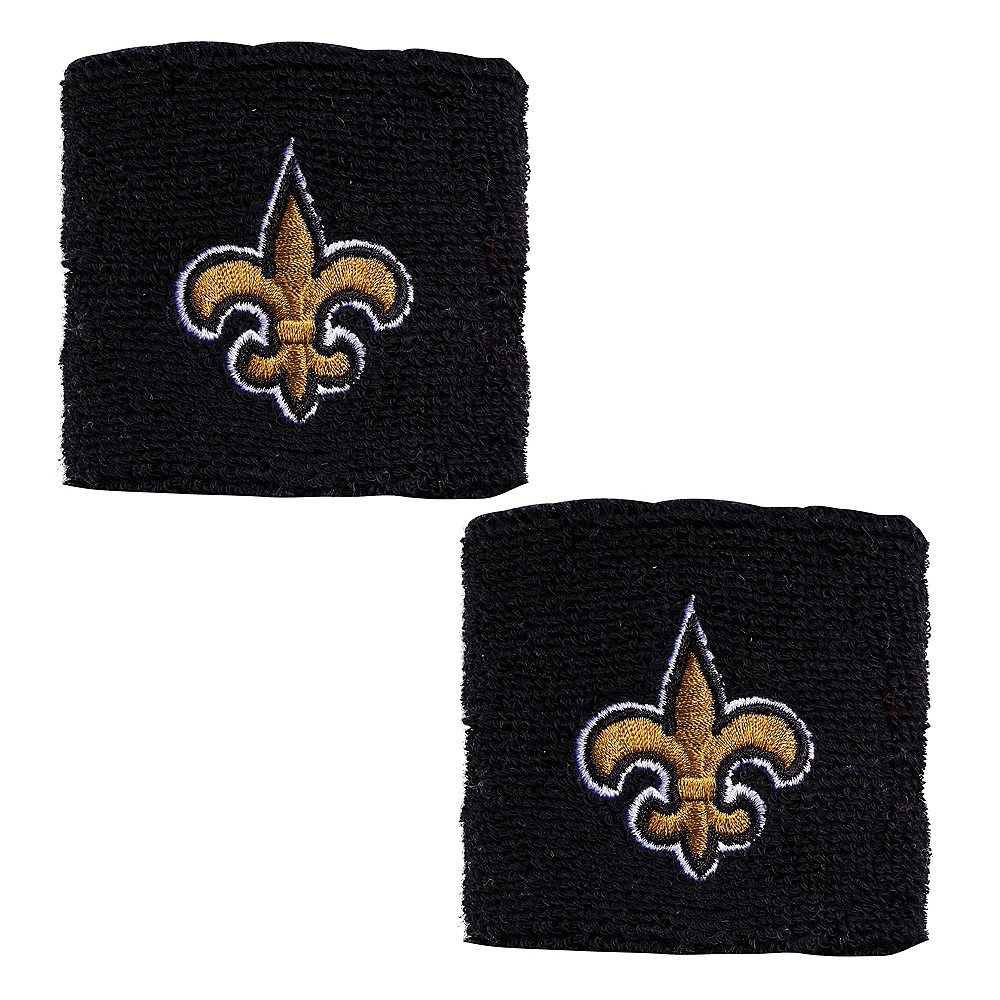 New Orleans Saints Wristbands 2ct Image #1