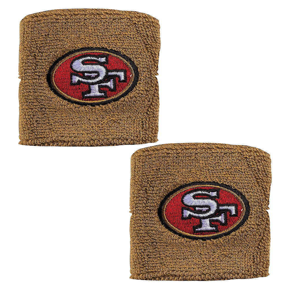 San Francisco 49ers Wristbands 2ct Image #1