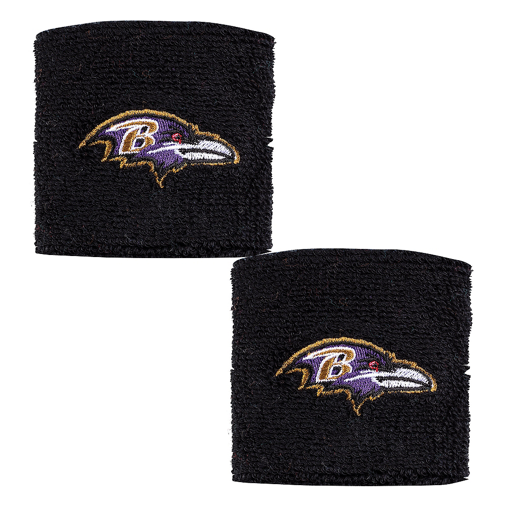 Baltimore Ravens Wristbands 2ct Image #1
