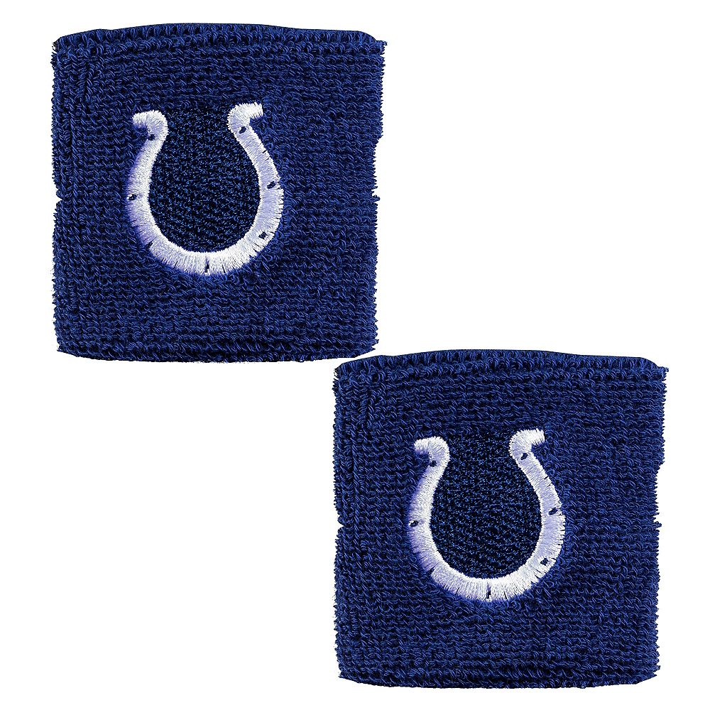Indianapolis Colts Wristbands 2ct Image #1