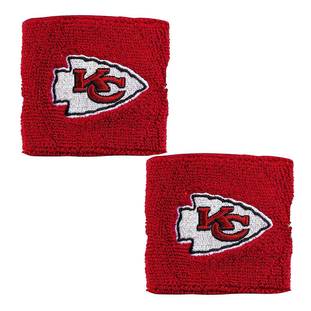 Kansas City Chiefs Wristbands 2ct Image #1