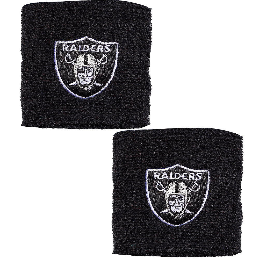 Oakland Raiders Wristbands 2ct Image #1